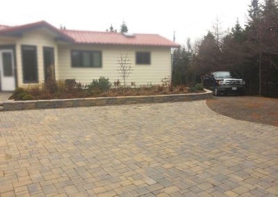 garden and driveway after
